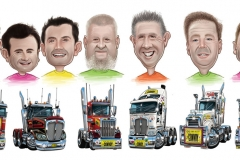 17_Caricature_Charity_Convoy_Trucks
